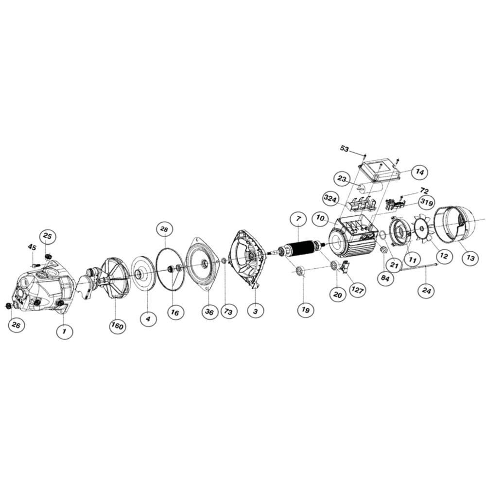 DAB Pumps O-ring set jet - R00008832