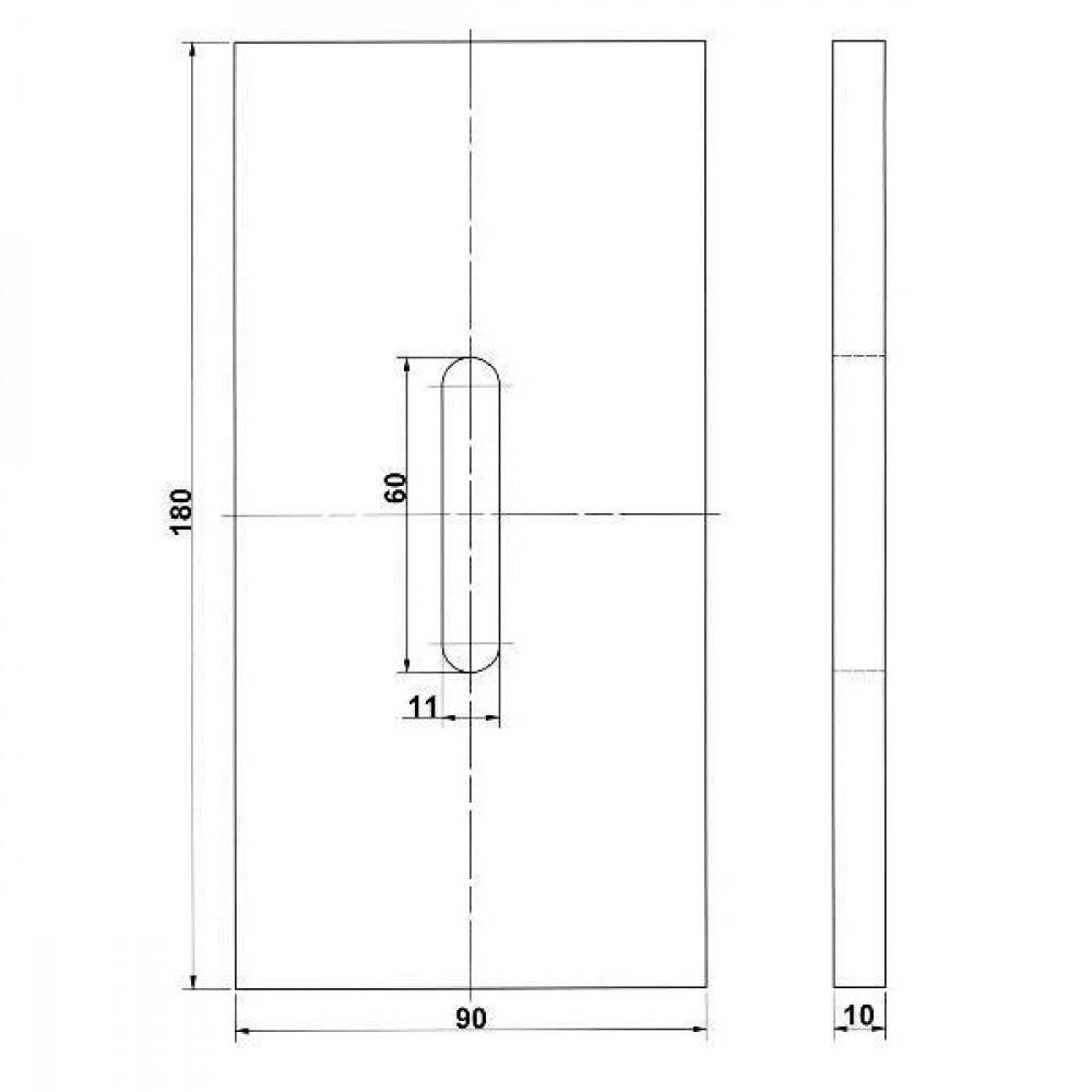 Afstrijker kunststof Kramp - RLQ282KR | 180 mm