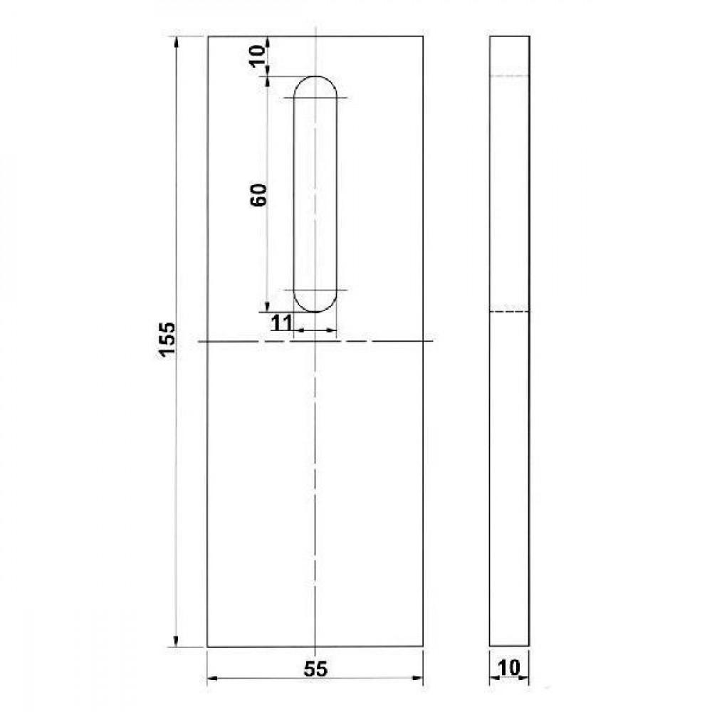 Afstrijker kunststof Kramp - RLQ283KR | 6036200 | 155 mm