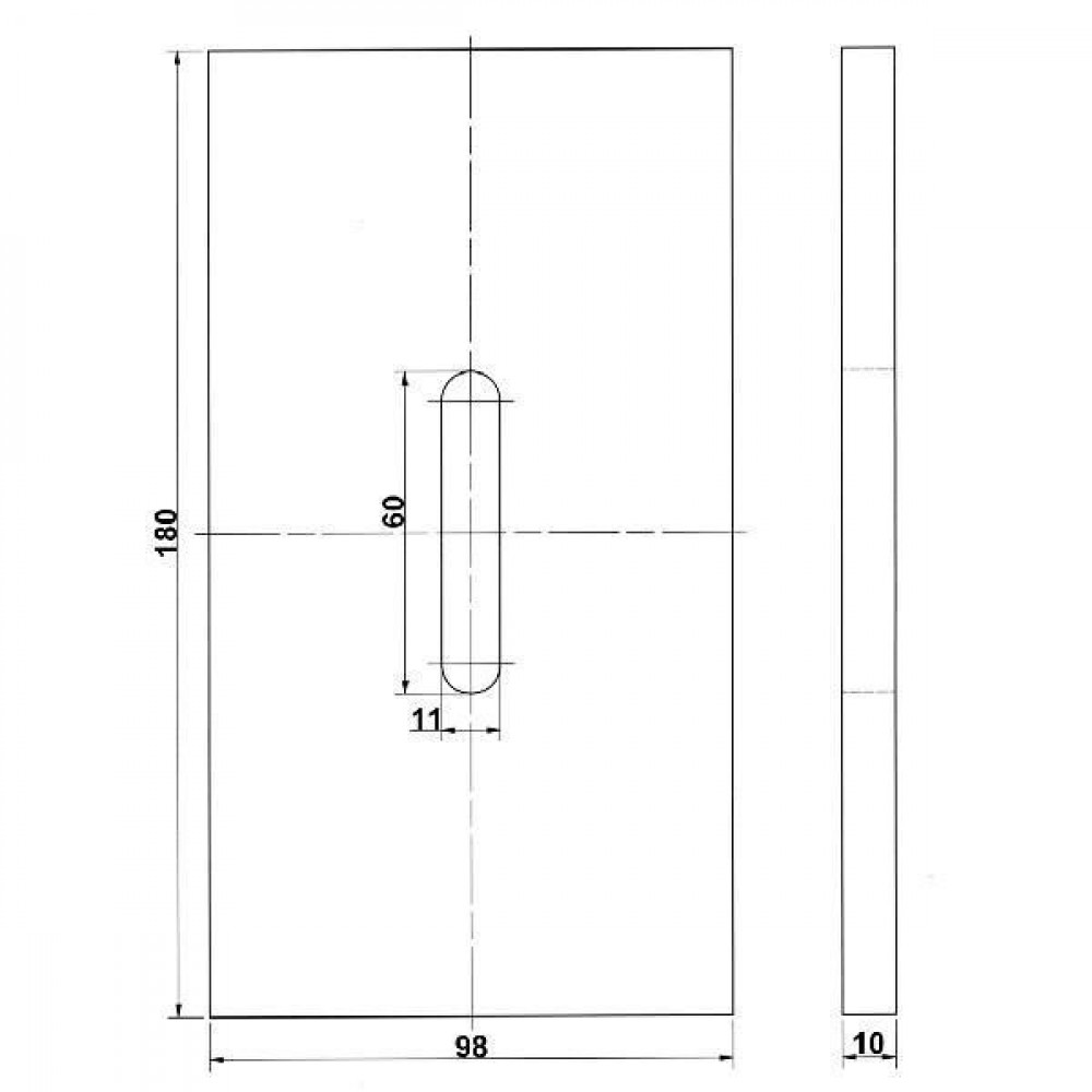 Afstrijker kunststof Kramp - RLQ284KR | 490.761.2 | 180 mm