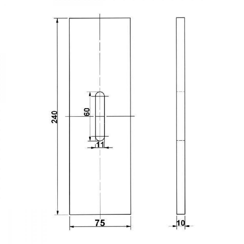 Afstrijker kunststof Kramp - RLQ286KR | 435.780 | 240 mm