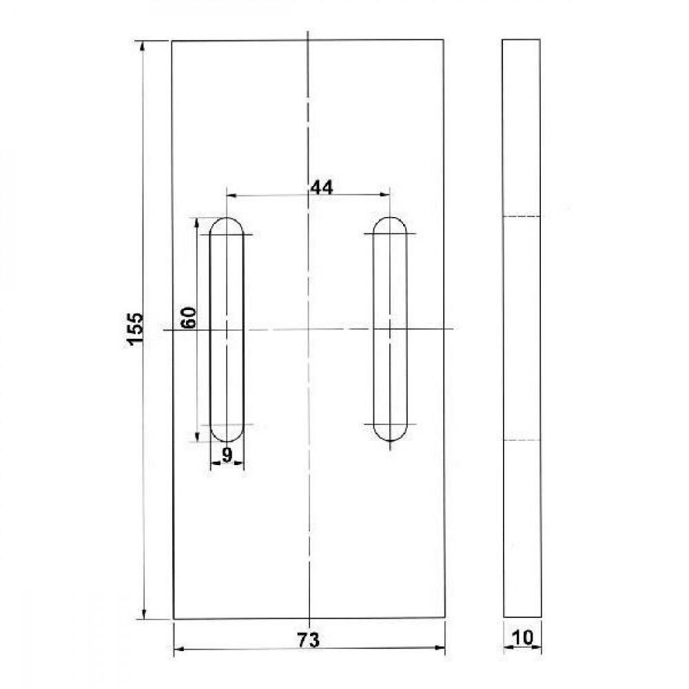 Afstrijker kunststof Kramp - RLQ288KR | 155 mm