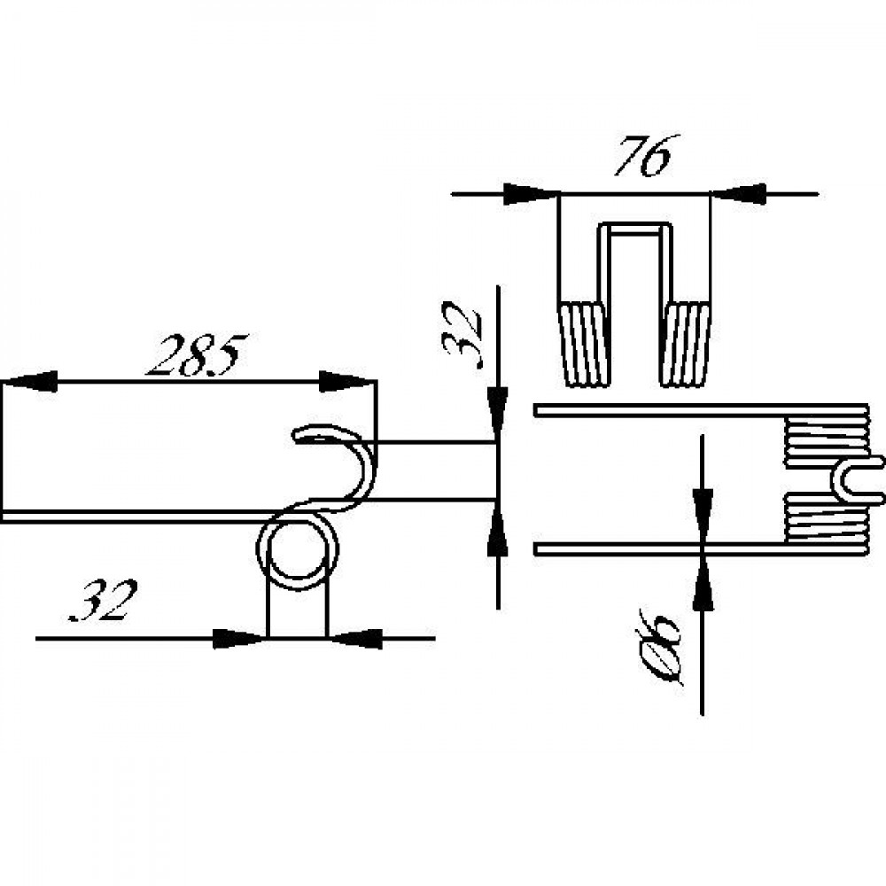 Tand dubbel Blanche - RT1200 | 285 mm | Fazant