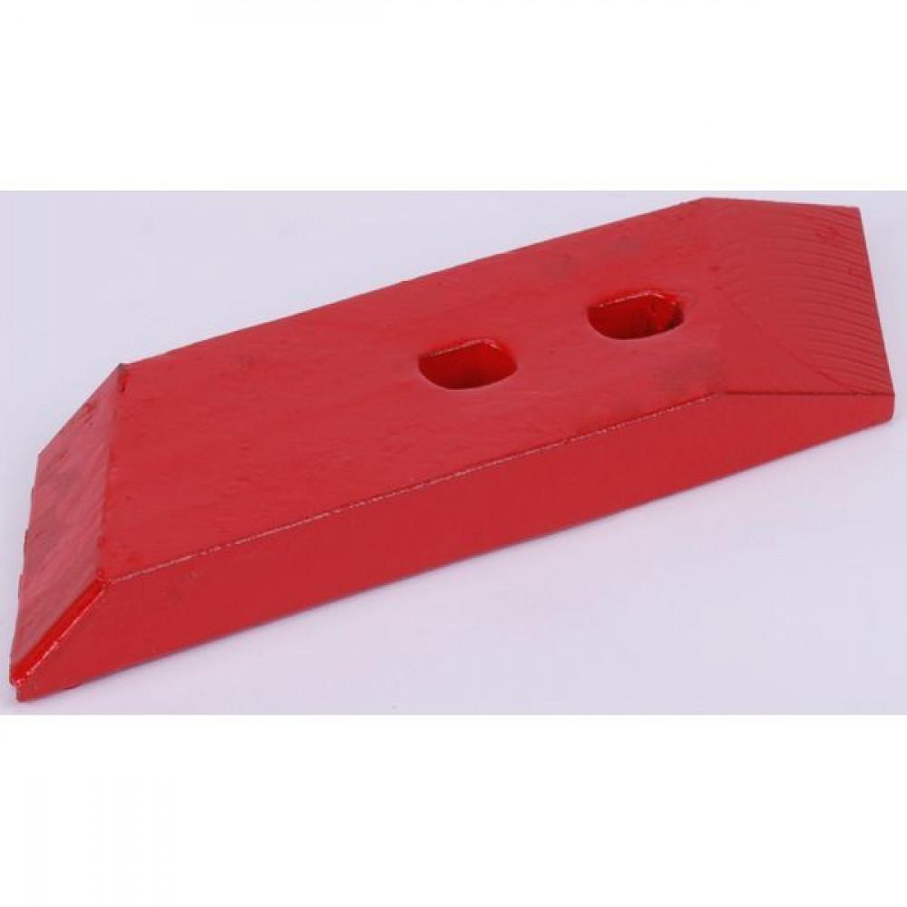 Schaarpunt hardmetaal R. MP2 - 27011201CKR | MP-293 | 300 mm | 45 mm | 2 x 2700.41.14 | Ovlac 64000384 | 1 st. | Rechts