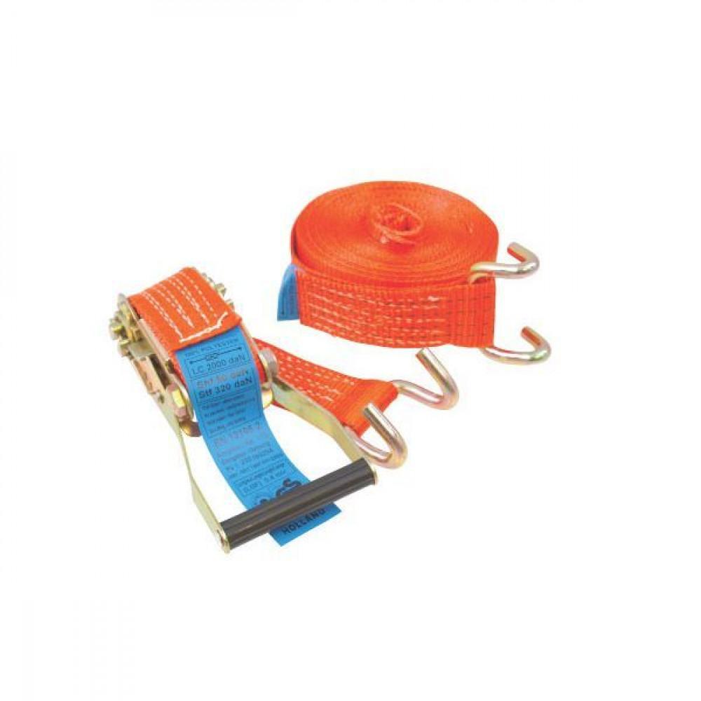 Spanband 50mmx9m m. haak - TS2050EK | 50 mm | 9 m | Klauwhaak | 2.500 daN