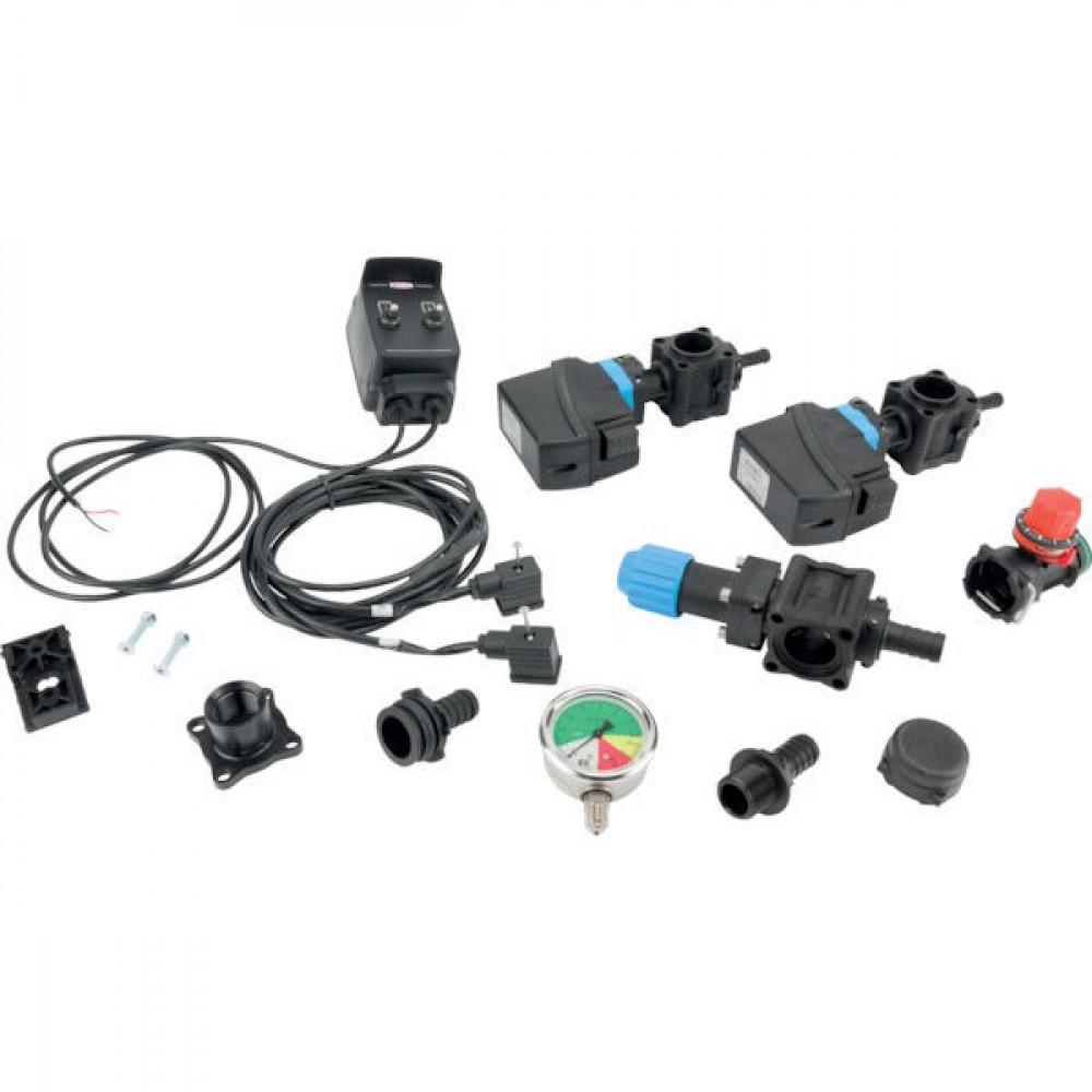 Set kr.stelsel gecal. elektr. 2 sekties + hand drukregelaar + schakelbox - SPKIT2NMEC   20 bar