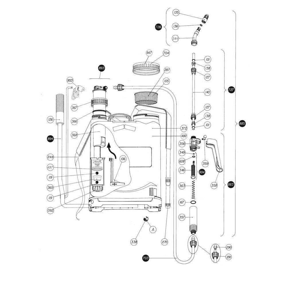Matabi Rugspuit elektrisch Easy+ - SPM83140 | 8.31.40 | 2,44 kg | 2,2 bar