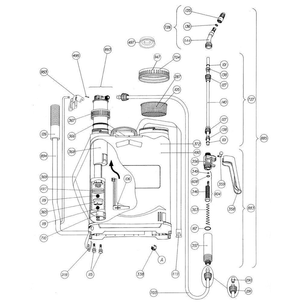 Matabi Rugspuit 20L Super Agro 20 - SPM83948 | 8.39.48 | Voor de landbouw | 3 jaar garantie