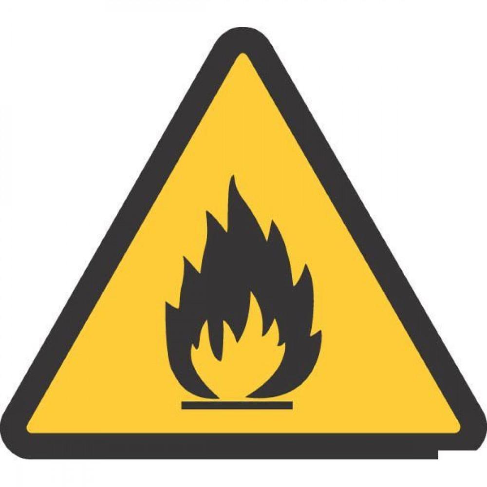 Sticker waarsch. 100mm brandg. - WB250201 | Sticker | 3 st.