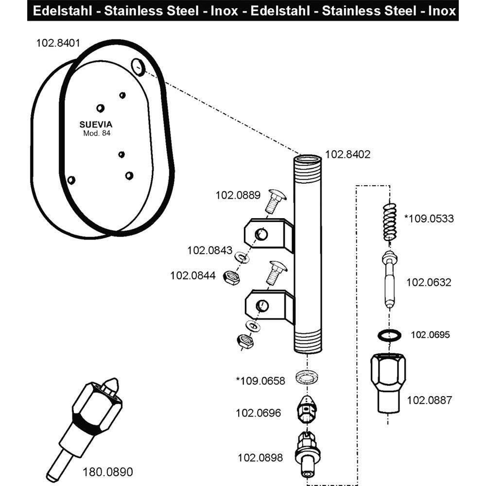 Suevia Stift ventiel MOD. 890 - SU1800890 | 1/2 Inch