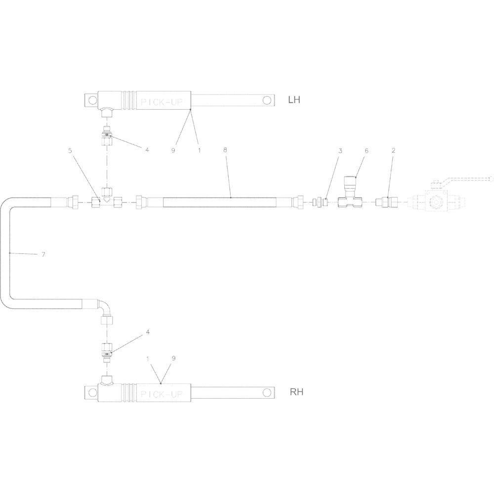 DEUTZ-FAHR T-verbindingsstuk - VF01141654   Aant.1   A4083203