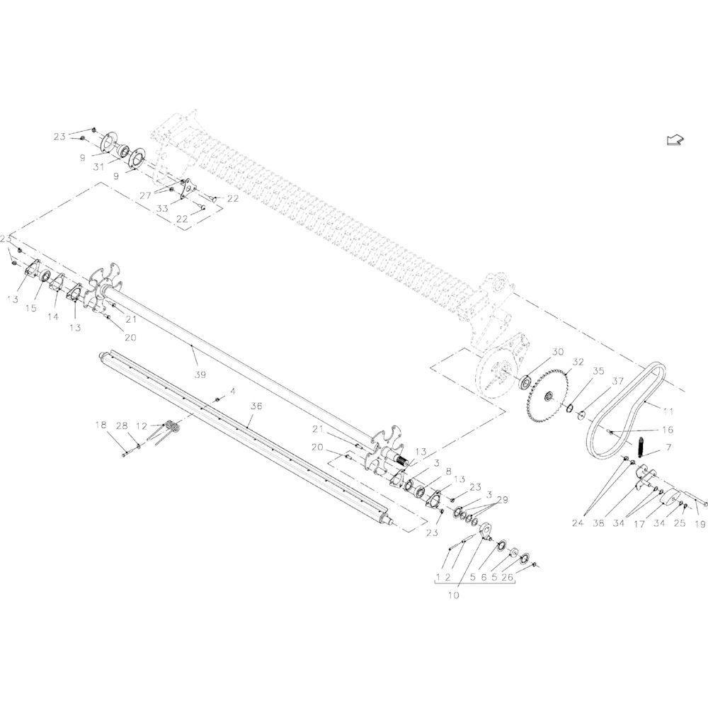 DEUTZ-FAHR Opvulring - VF06214485 | Aant.1 | Z3000330