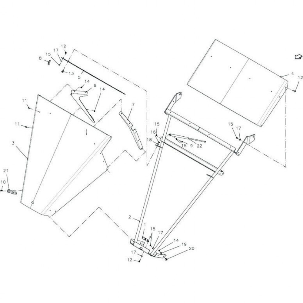 DEUTZ-FAHR Sluiting - VF16611457 | Aant.1 | Z4000080
