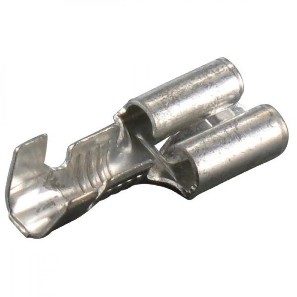 Vlakstekkerhuls blank 6.3x0.8 - AMP422382   6,3x0,8 mm   4.0-6.0 mm²   50 st.   Helder