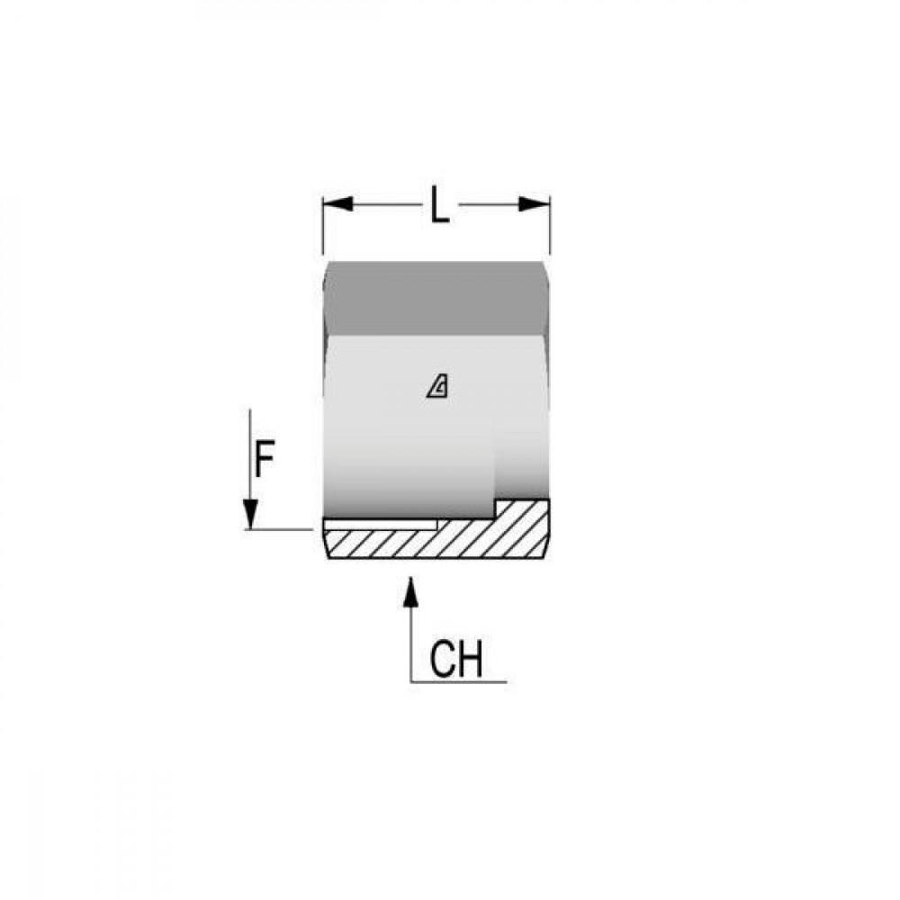 Alfagomma Wartelmoer 9/16 UNF - W09   10 mm