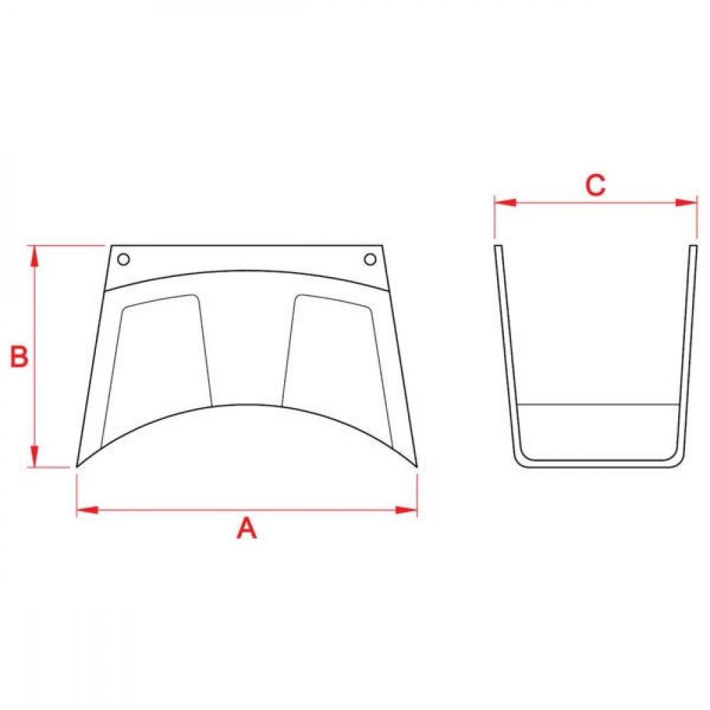 Wandslanghouder kunststof - WG11000 | 260 mm | 165 mm | 170 mm