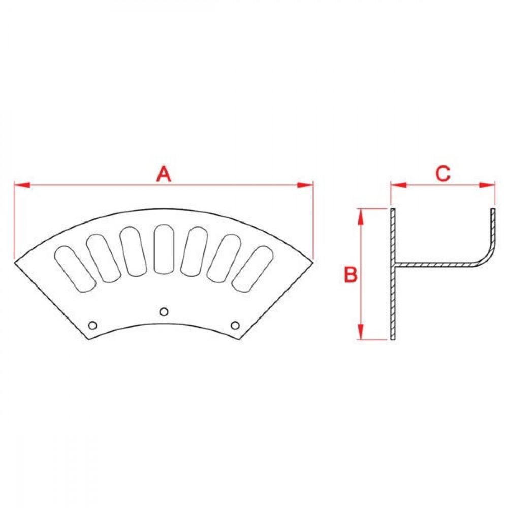 Werkplaats slanghouder lichtm - WG6123 | 388 mm | 170 mm | 187 mm