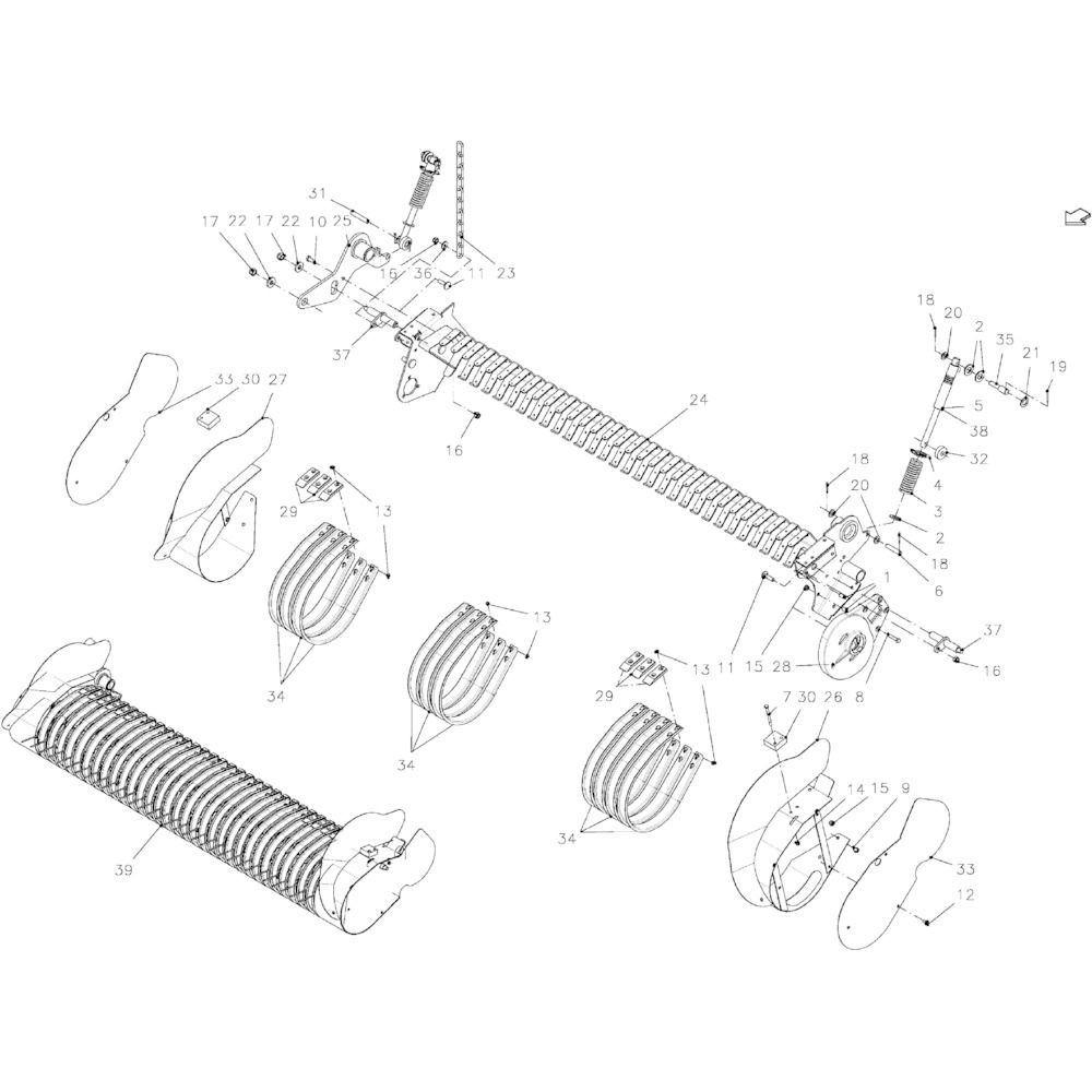 Kuhn Reparatieset cilinder - Z4067180 | Aant.1