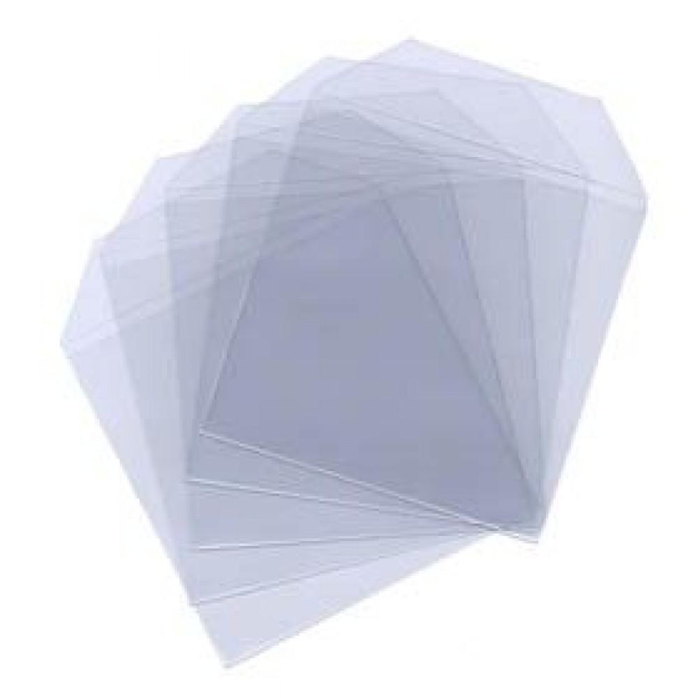 Huismerk kunststof CD/DVD hoes (plastic sleeves), transparant, 100 stuks