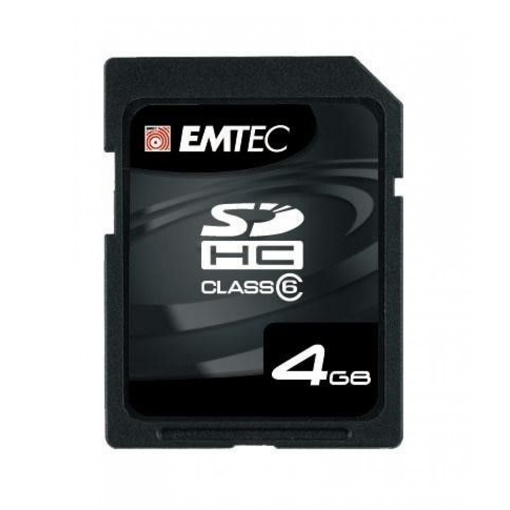 Emtec geheugenkaart, SDHC, 4 Gb opslagruimte, snelheid 133x