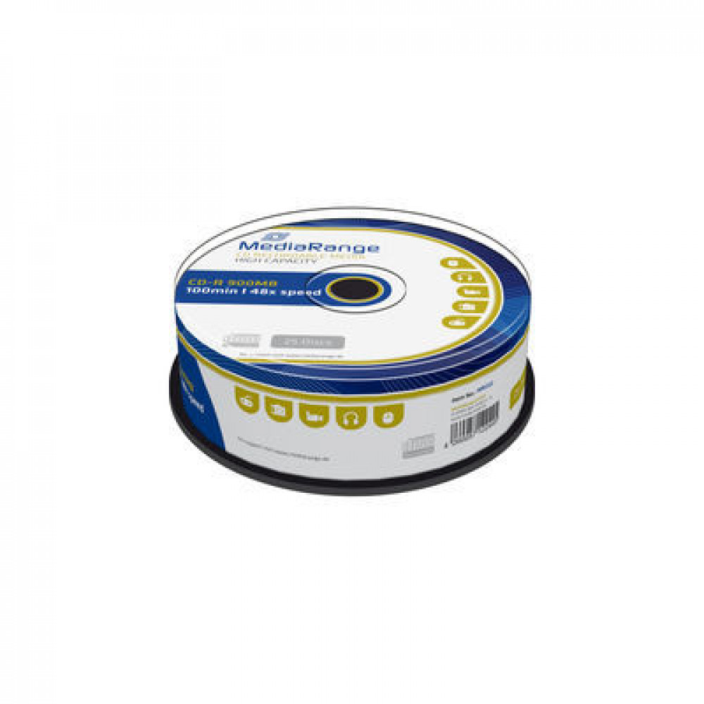 MediaRange CD-R 900MB|100min 48x speed, Cake 25