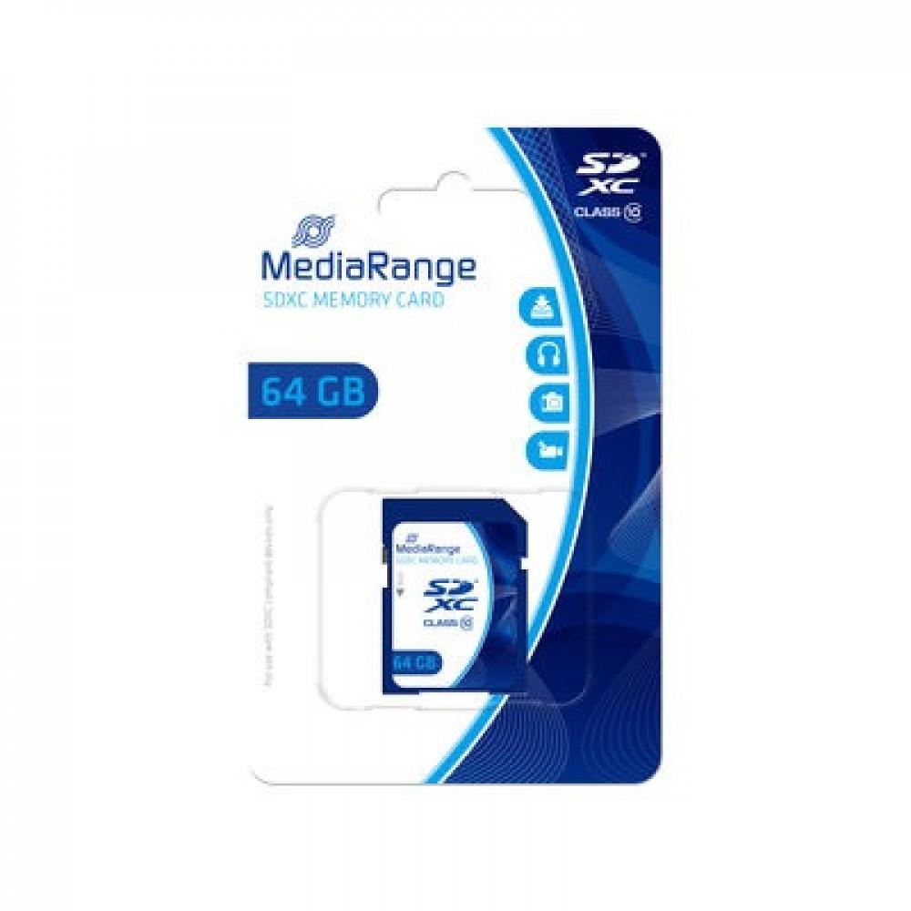 MediaRange geheugenkaart SDXC 64GB Class 10