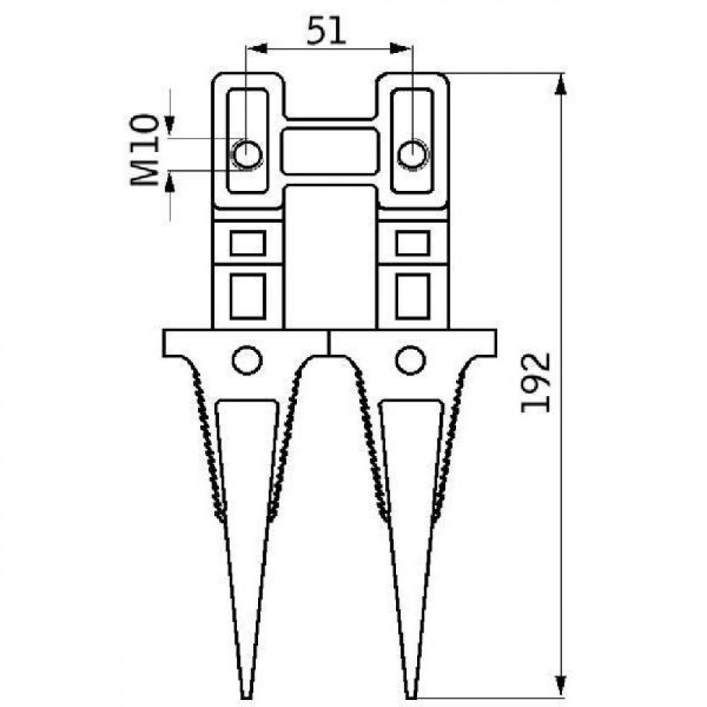 Dubbele vinger - 15004307N | S 80, M 500