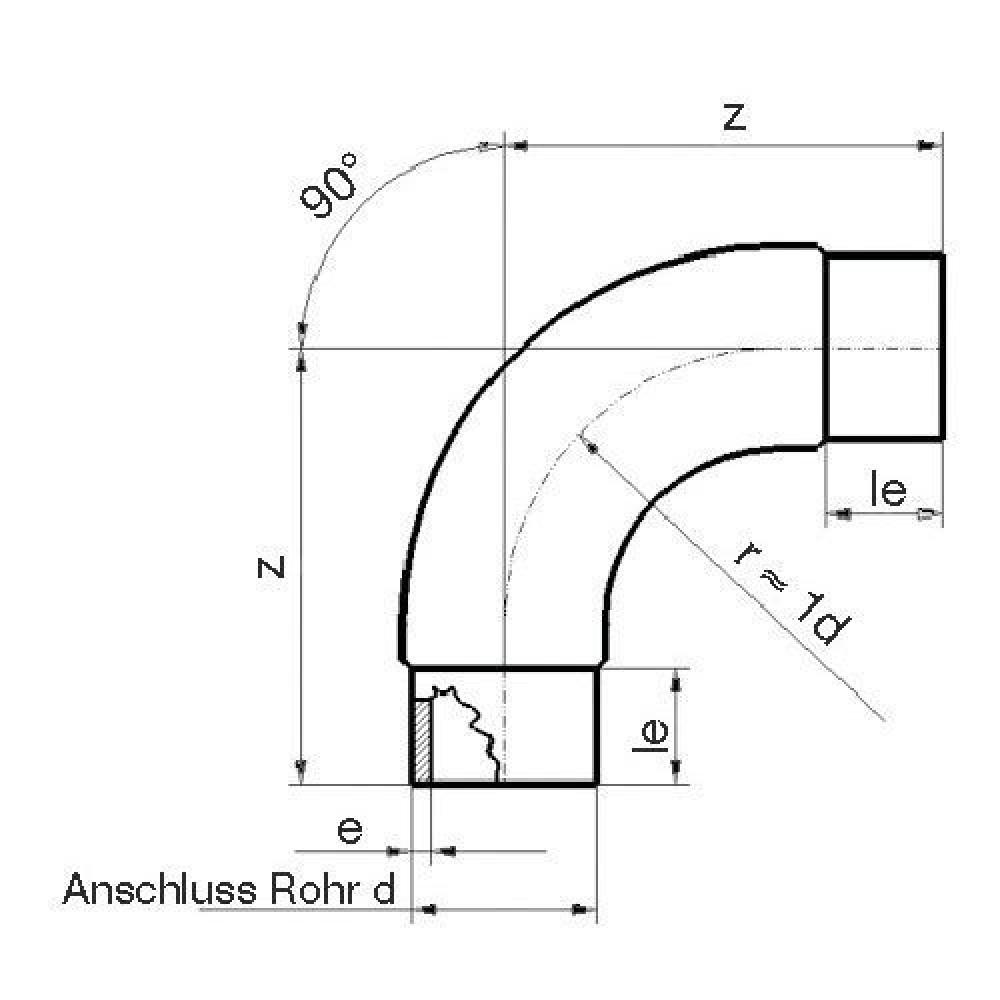 Plasson Knie 90° 200 mm SDR17 - 9556200 | 200 mm | 112 mm | 11,8 mm | 322 mm