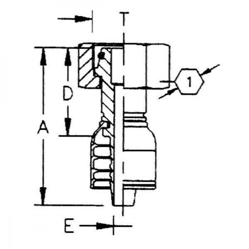 Aeroquip Perskoppeling DN10-M20x1,5-14 - AQPGL1020 | Snijringadapters L-serie | D.m.v. conus met O-ring | DIN 3863 | 24 ° | 10 mm