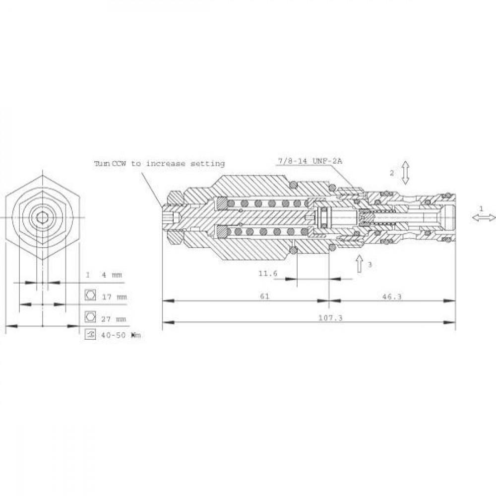 Comatrol Bal.patroon - CB10AV2B1E100B00 | SDC 10-3S | 60 l/min | 1 bar | 75 240 bar
