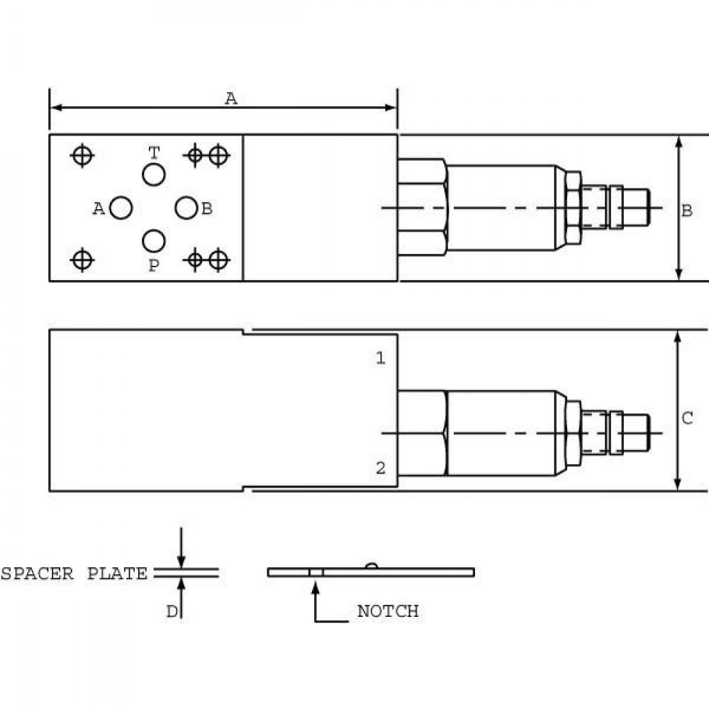 Comatrol Drukregelvent. CP2001B0AC NG06 - CP2001M03015 | Nitrilrubber (NBR) | Aluminium | 100 mm | 45 mm | 38,5 mm | Cetop 03 | Inwendig | 35 l/min | 210 bar | 41 248 bar