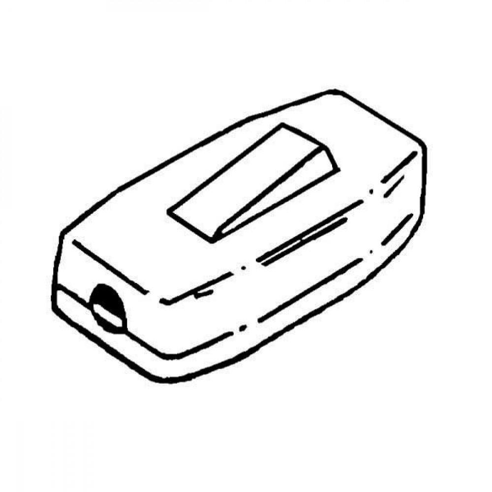 Snoerschakelaar wit - EM4550269