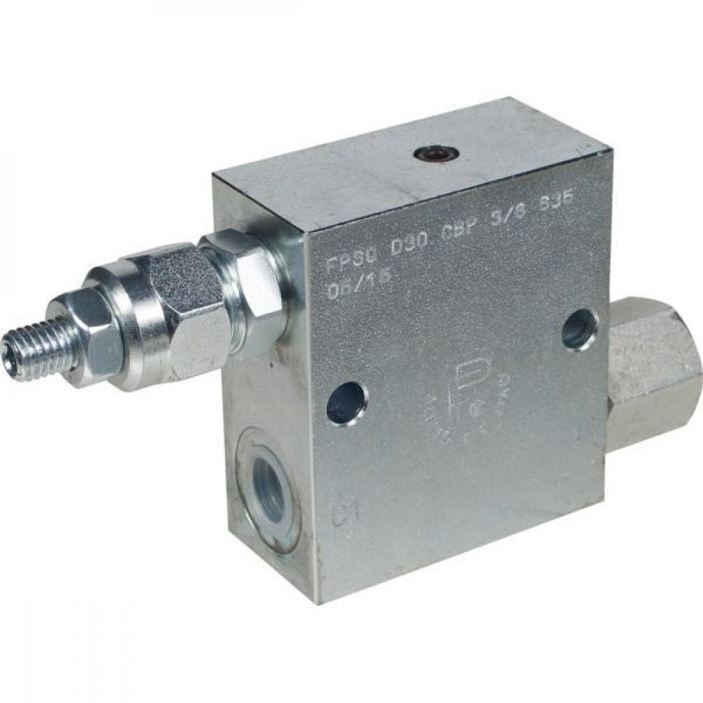 FluidPress Volgordeventiel staal 3/8 - FPSQD05001ST | Inbusschroef | 40 l/min | 350 bar