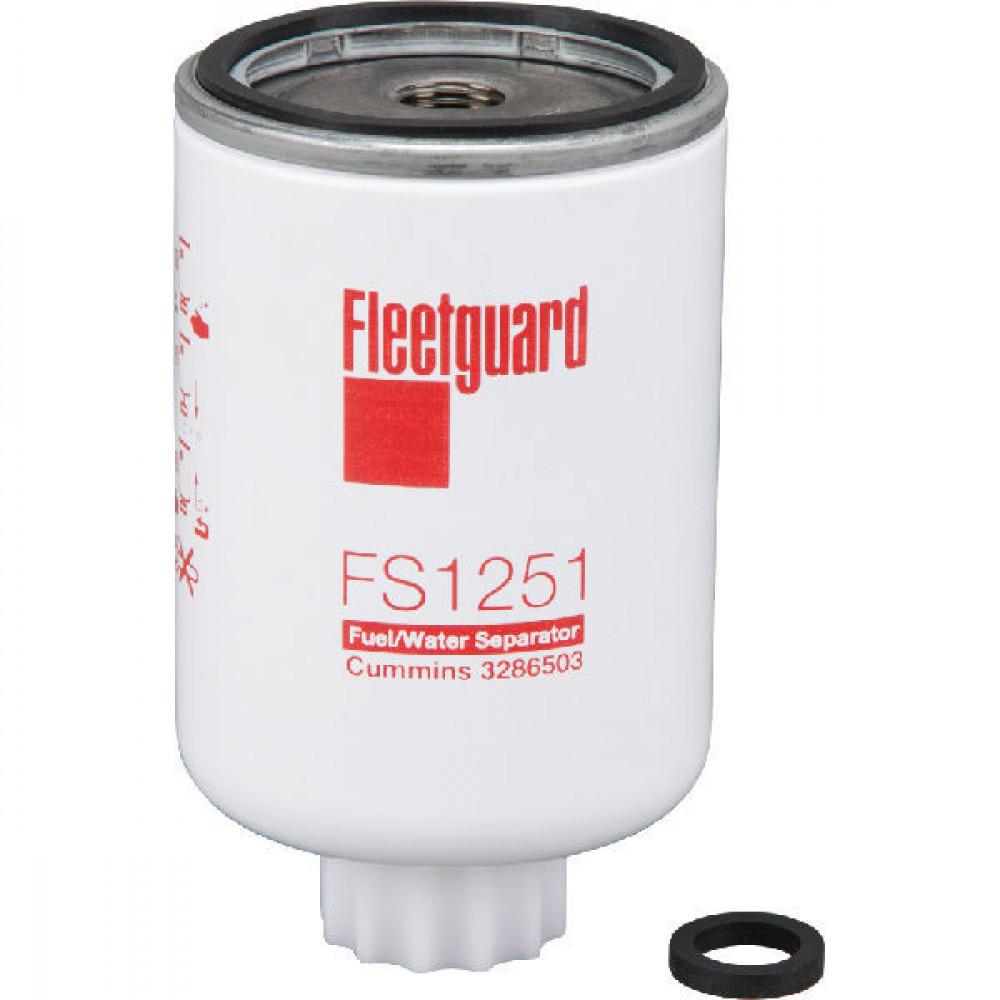 Brandstoffilter Fleetguard - FS1251 | 76.71 mm | 76.45 mm H | M16 X 1.5-6H INT G