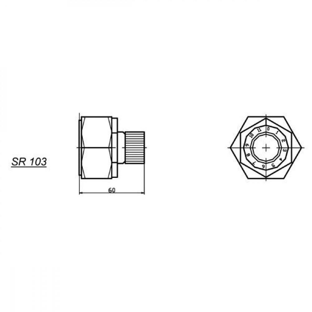 Stroomverdeelventiel SR10   Robuuste constructie   Stabiele werking