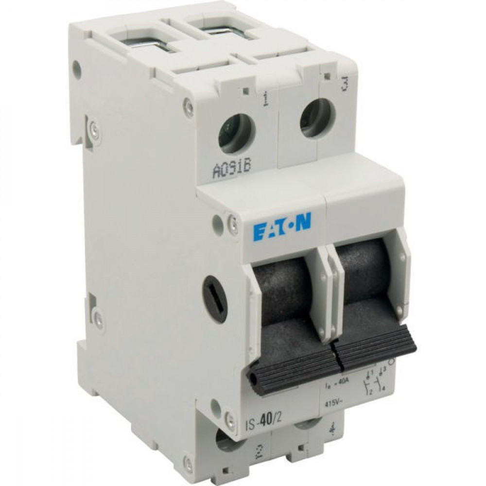 Zeer Eaton Hoofdschakelaar 40A/2P - IS402 in Elektrotechniek SW31