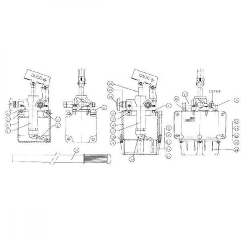 OMFB Afd. alu voor 2l tank PMS/PMSD - PMS9514569A