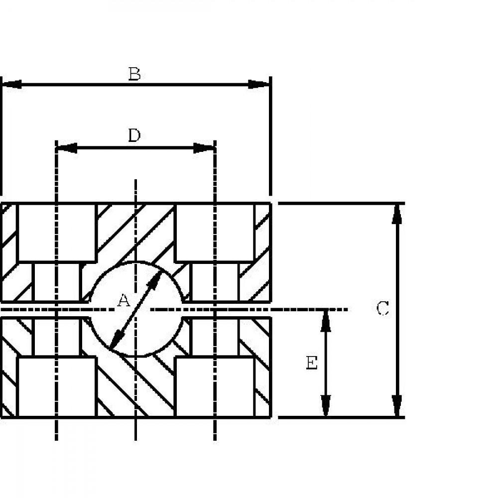 Stauff Pijpklem cpl. zwaar C2 22mm PA - RS222ZPA | DIN 3015/2 | 50 N/mm² N/mm² | 48 mm | M 10 x 60