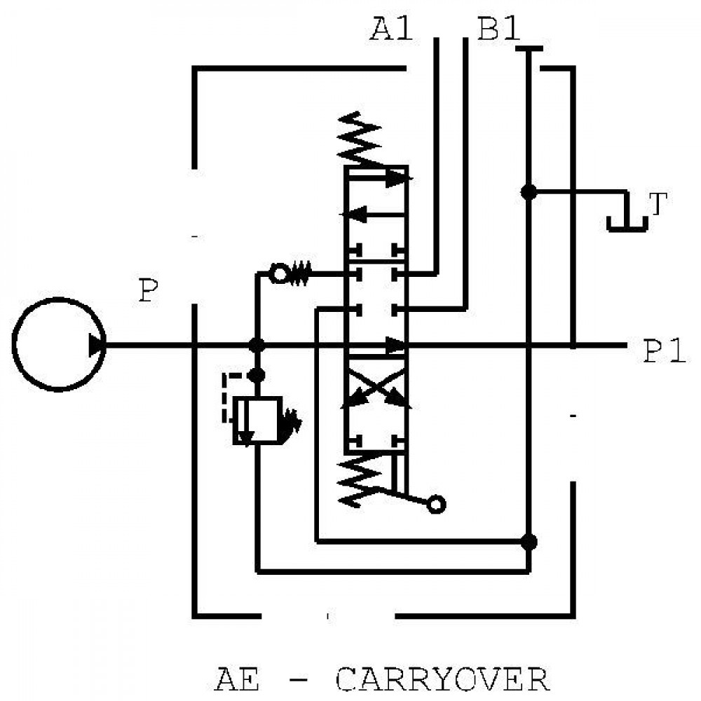 Walvoil Stuurventiel SD11/1-G3- 38LAE - SD111009 | 3 cm³/min | Nitrilrubber (NBR) | 315 bar | -20 <> +80 | Inbusschroef | 70 l/min | 120 220 bar