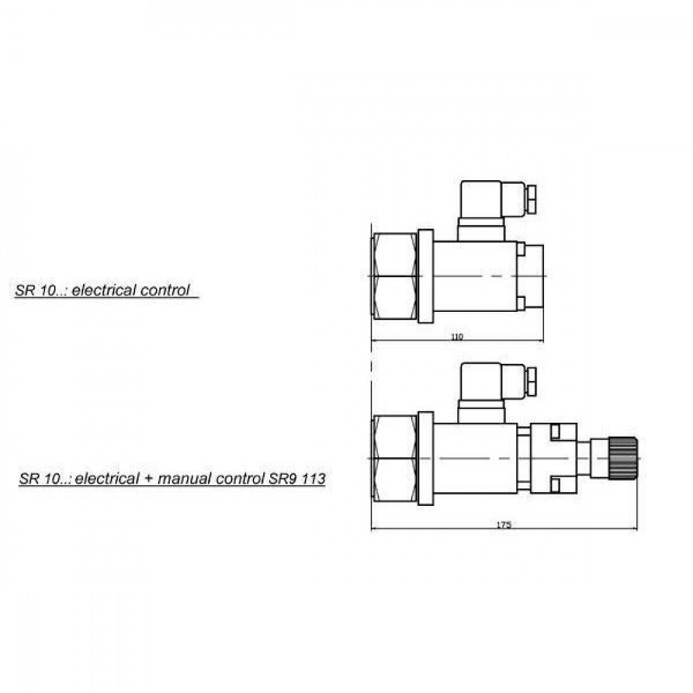 Till Hydraulik 3-weg stroomregel vent - SR101080012   Robuuste constructie   Stabiele werking   P=110 l/min   0 80 l/min
