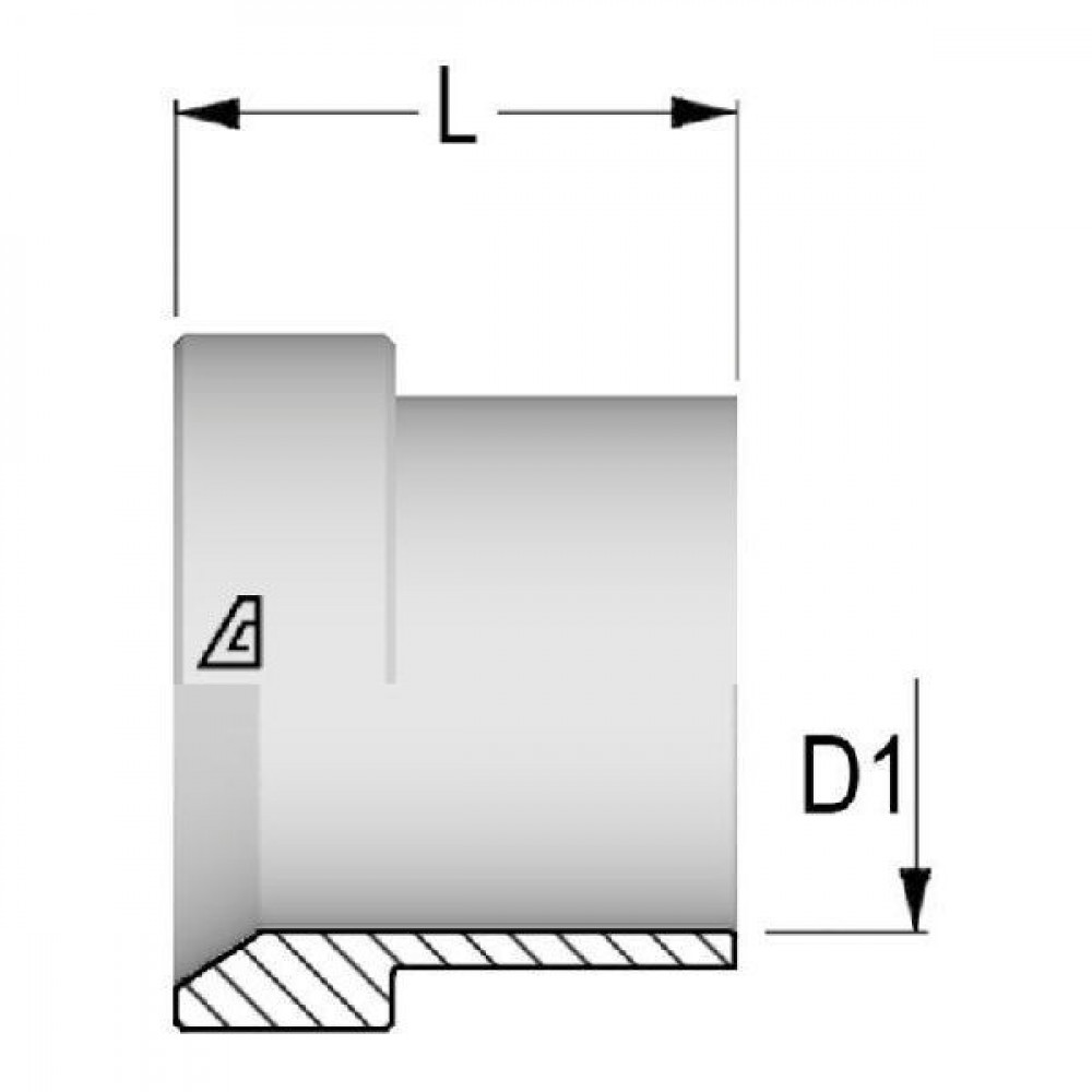 Alfagomma Steunring 25mm - SRM25 | 74° conus | 25 mm