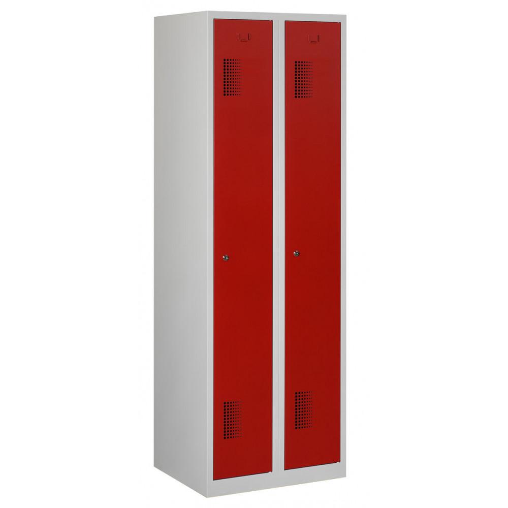 Garderobekast 2 Delig 2 Deuren Rood