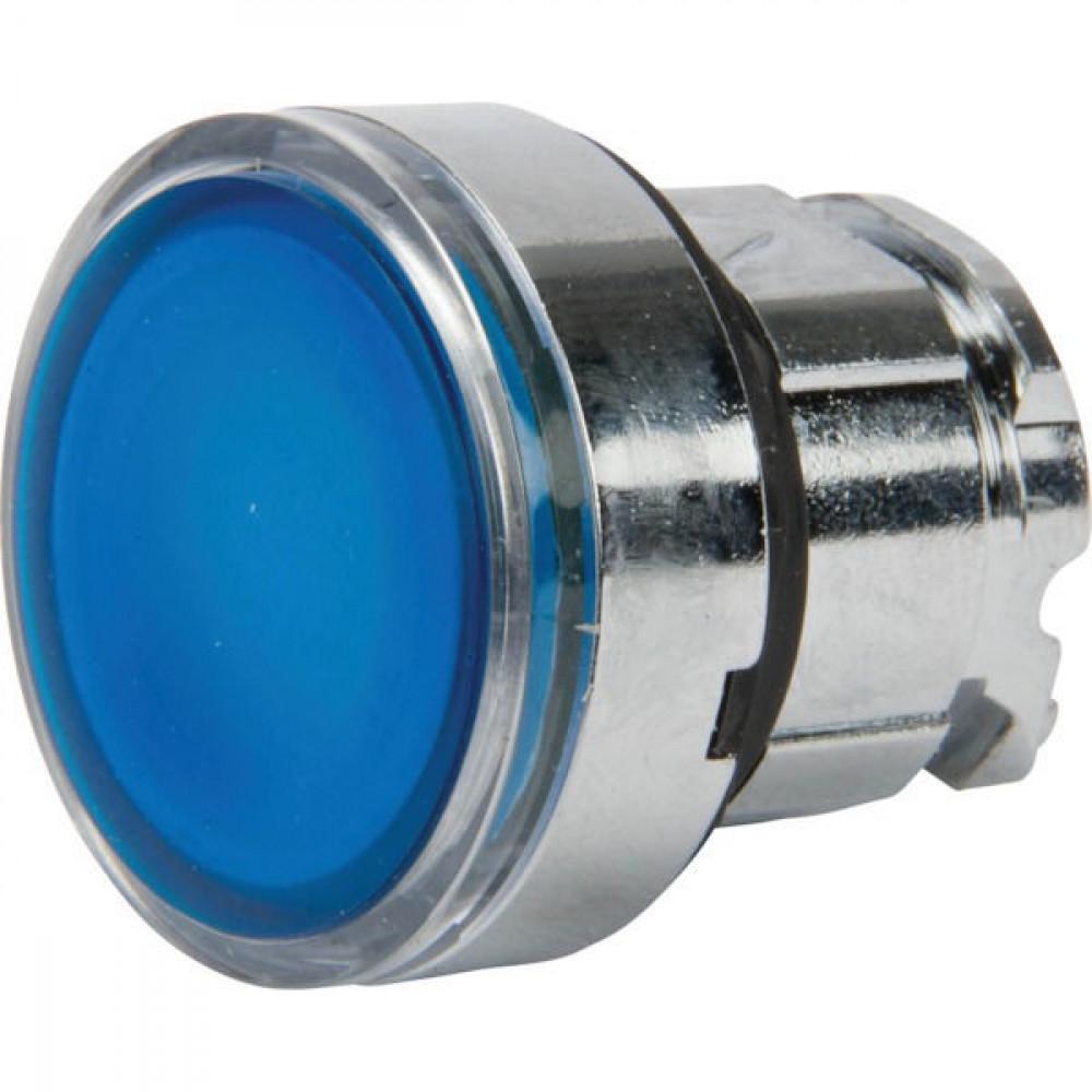 Schneider-Electric Signaaldrukknop,blauw,arreter. - ZB4BH063