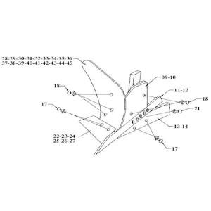 Gard +Wearing plate rh - 0030334000