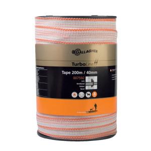 Gallagher TurboLine schriklint 40 mm 200 m wit - 007592GAL