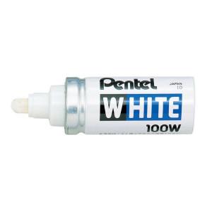 Merkpen X100W wit Pentel - 009014 | Lijndikte 4 mm