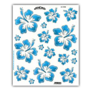 Stickerset Hawaii flowers voor fietsen | Afmeting 24 x 20 cm