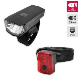 Lynx Verlichtingsset High Power USB 35 Lux voor fietsen