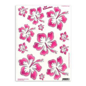 Hawaiian flowers pink large voor fietsen | Afmeting 34 x 24 cm
