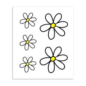 Stickerkit flowers 23 x 20 cm voor fietsen | Afmeting 23 x 20 cm